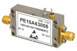 40 dB Gain, 1.2 dB NF, 10 dBm P1dB, 900 MHz to 1.2 GHz, Input Protected Low Noise Amplifier, SMA