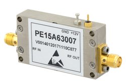 0.85 dB NF, 12 dBm P1dB, 2 GHz to 2.6 GHz, Low Noise Amplifier, 30 dB Gain, SMA