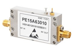 20 dBm IP3, 0.8 dB NF, 8 dBm P1dB, 3.1 GHz to 3.5 GHz, Low Noise Amplifier, 28 dB Gain, SMA
