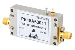 0.85 dB NF, 13 dBm P1dB, 3.1 GHz to 3.5 GHz, Input Protected Low Noise Amplifier, 35 dB Gain, SMA