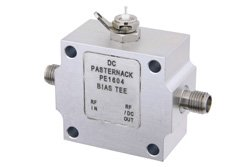 PE1604 - 100 MHz to 6 GHz SMA Bias Tee Rated to 500 mA and 50 Volts DC