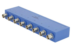 8 Way BNC Power Divider From 2 MHz to 500 MHz Rated at 1 Watt