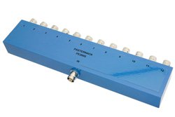 PE2005 - 12 Way BNC Power Divider From 2 MHz to 500 MHz Rated at 1 Watt
