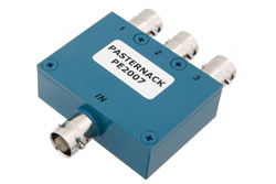 PE2007 - 3 Way BNC Wilkinson Power Divider From 2 MHz to 200 MHz Rated at 1 Watt