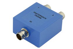 PE2048 - 75 Ohm 2 Way BNC Power Divider From 2 MHz to 500 MHz Rated at 1 Watts