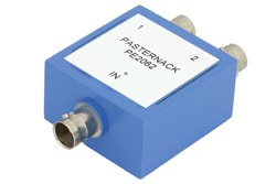 PE2062 - 75 Ohm 2 Way BNC Power Divider From 10 MHz to 1,000 MHz Rated at 1 Watt