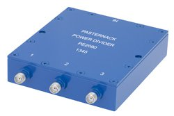 50 Ohm 3 Way SMA Wilkinson Power Divider From 690 MHz to 2.7 GHz Rated at 10 Watts