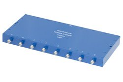 50 Ohm 8 Way SMA Wilkinson Power Divider From 690 MHz to 2.7 GHz Rated at 10 Watts