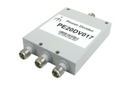 PE20DV017 - 3 Way SMA Power Divider from 2 GHz to 4 GHz Rated at 30 Watts