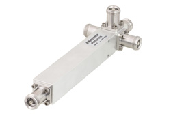 Low PIM 4 Way 4.1/9.5 Mini DIN Equal-Tapper High Power From 600 MHz to 2.7 GHz Rated at 300 Watts