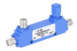 Directional 10 dB SMA Coupler From 1 GHz to 2 GHz Rated to 50 Watts