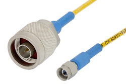 SMA Male to N Male Precision Cable Using 150 Series Coax, RoHS