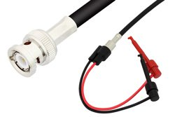 BNC Male to Hook Cable Using 75 Ohm RG59 Coax