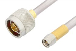 SMA Male to N Male Cable Using PE-SR401AL Coax