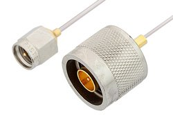 SMA Male to N Male Cable Using PE-SR047AL Coax