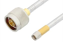 SMA Male to N Male Cable Using PE-SR401FL Coax, RoHS