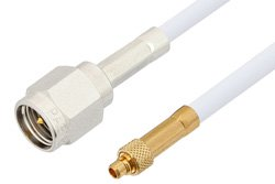 SMA Male to MMCX Plug Cable Using RG188 Coax, RoHS