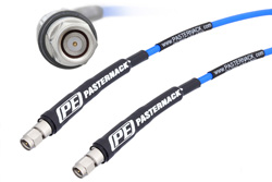 SMA Male to SMA Male High Performance Test Cable 26 Ghz 100 cm Length Using PE-P141 Coax, RoHS