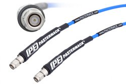 SMA Male to SMA Male Cable 200 cm Length Using PE-P141 Coax with HeatShrink, LF Solder, RoHS