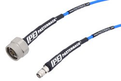 SMA Male to N Male High Performance Test Cable 18 Ghz 12 Inch Length Using PE-P141 Coax, RoHS
