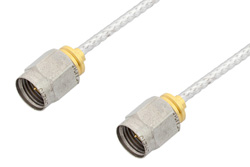 2.4mm Male to 2.4mm Male Cable Using PE-SR405FL Coax, LF Solder, RoHS