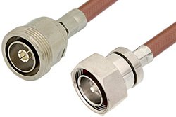 PE37450 - 7/16 DIN Male to 7/16 DIN Female Cable Using RG393 Coax