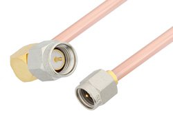 SMA Male to SMA Male Right Angle Cable Using RG402 Coax