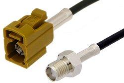 PE39350K - SMA Female to Curry FAKRA Jack Cable Using RG174 Coax