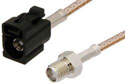 PE39351A - SMA Female to Black FAKRA Jack Cable Using RG316 Coax