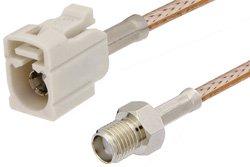 PE39351B - SMA Female to White FAKRA Jack Cable Using RG316 Coax