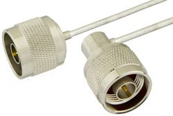 N Male to N Male Right Angle Precision Cable Using PE-SR405FL Coax, RoHS
