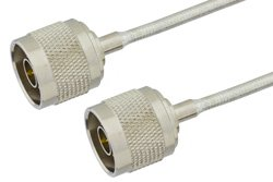 N Male to N Male Precision Cable Using PE-SR402FL Coax, RoHS