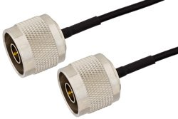 N Male to N Male Precision Cable Using PE-SR405FLJ Coax, RoHS