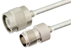 TNC Male to TNC Female Precision Cable Using PE-SR402FL Coax, RoHS