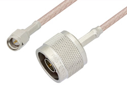 SMA Male to N Male Cable 60 Inch Length Using RG316-DS Coax