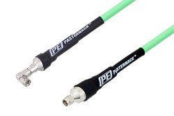 SMA Male to SMA Male Right Angle Low Loss Test Cable Using PE-P300LL Coax, RoHS