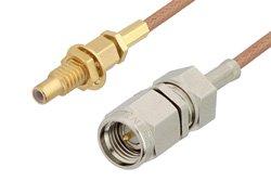 PE3C4392 - SMA Male to SSMC Jack Bulkhead Cable Using RG178 Coax