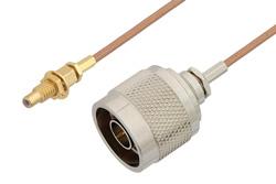 PE3C4400 - N Male to SSMC Jack Bulkhead Cable Using RG178 Coax