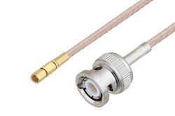 PE3C4475 - BNC Male to SSMC Plug Cable Using RG316-DS Coax