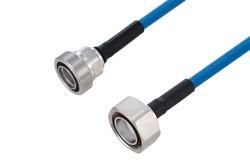 PE3C6182 - Plenum 7/16 DIN Male to 7/16 DIN Female Low PIM Cable Using SPP-250-LLPL Coax Using Times Microwave Parts