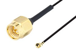 SMA Male to UMCX 2.5 Plug Cable Using 1.13mm Coax, RoHS
