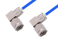 TNC Male Right Angle to TNC Male Right Angle Cable Using PE-141FLEX Coax, RoHS