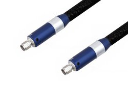 2.4mm Male to 2.4mm Male Cable Using Ruggedized VNA Test Coax 40GHz, RoHS