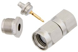 PE4026 - SMA Male Connector Clamp/Solder Attachment for RG174, RG316, RG188, PE-B100, PE-C100, 0.100 inch, LMR-100