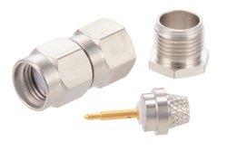 PE4027 - SMA Male Connector Clamp/Solder Attachment for RG55, RG58, RG141, RG142, RG223, RG303, RG400, PE-C195, PE-P195, LMR-195