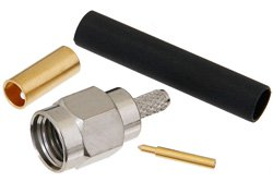 PE4036 - SMA Male Connector Solder Attachment for RG174, RG316, RG188, LMR-100, PE-B100, PE-C100, .100 inch