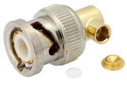 PE4092 - BNC Male Right Angle Connector Solder Attachment for PE-SR402AL, PE-SR402FL, RG402
