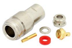 PE4130 - N Female Connector Clamp/Solder Attachment For PE-SR405AL, PE-SR405FL, RG405