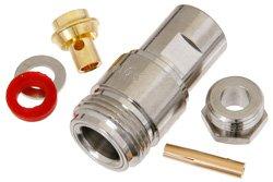 PE4138 - N Female Connector Clamp/Solder Attachment For PE-SR402AL, PE-SR402FL, RG402