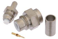 PE4164 - 75 Ohm SMC Jack Connector Crimp/Solder Attachment For RG180, RG195